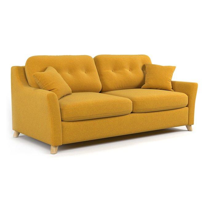 Диван-кровать Raf SF трехместный желтого цвета