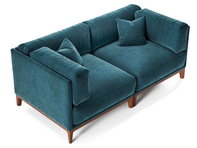 Диван Case синего цвета