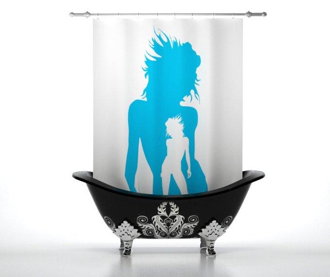 Штора для ванной: Танец