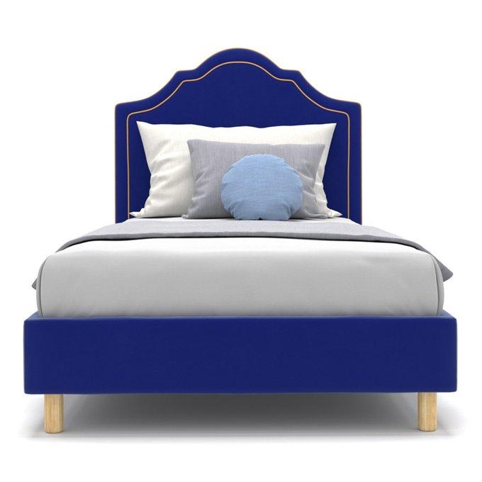 Односпальная кровать Kylie kids на ножках синего цвета 100х200