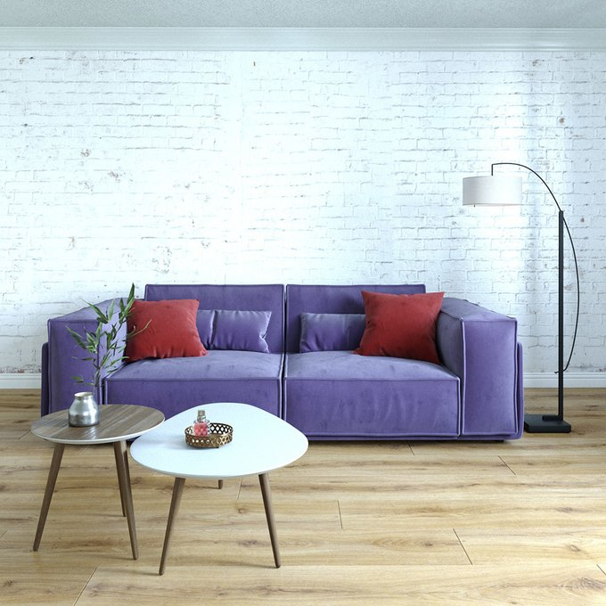 Диван-кровать Vento light двухместный серого цвета