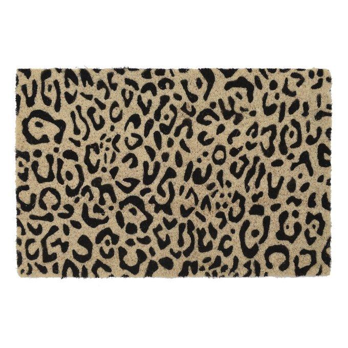 Коврик придверный бежево-черного цвета 40х60
