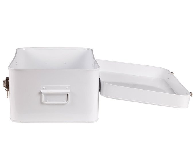 Металлический сундук Blanco белого цвета