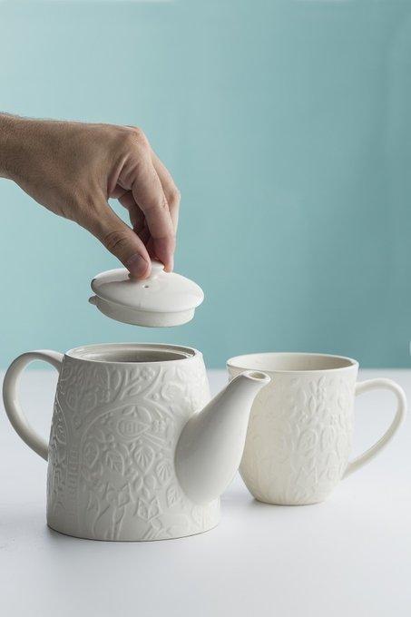 Чашка In the Forest белого цвета