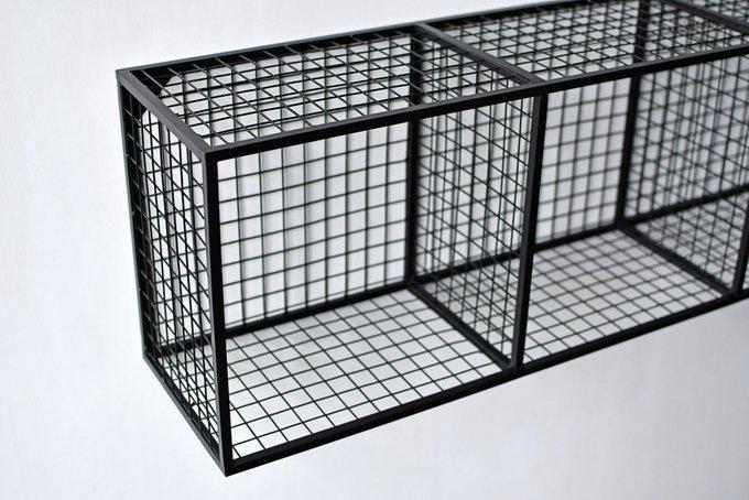 Полка Cubes из металла черного цвета