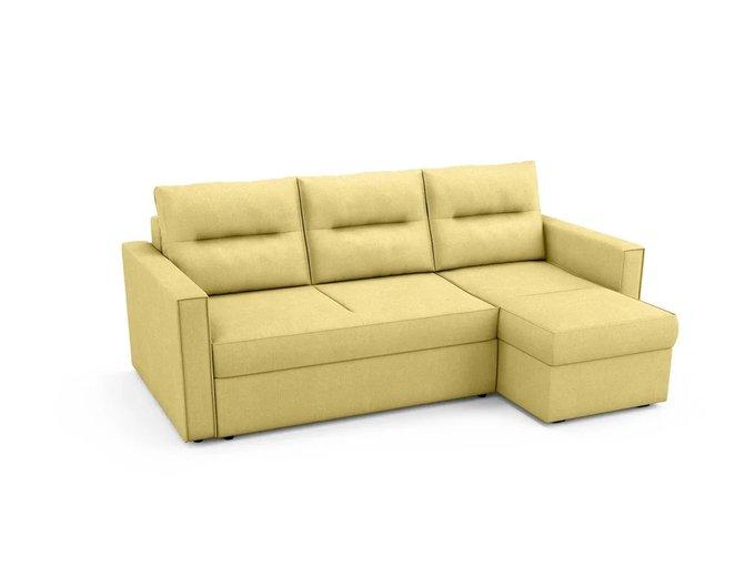 Угловой Диван-кровать Macao правый желтого цвета