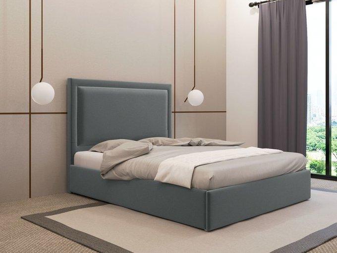 Кровать Юнит 120х200 серого цвета с подъемным механизмом