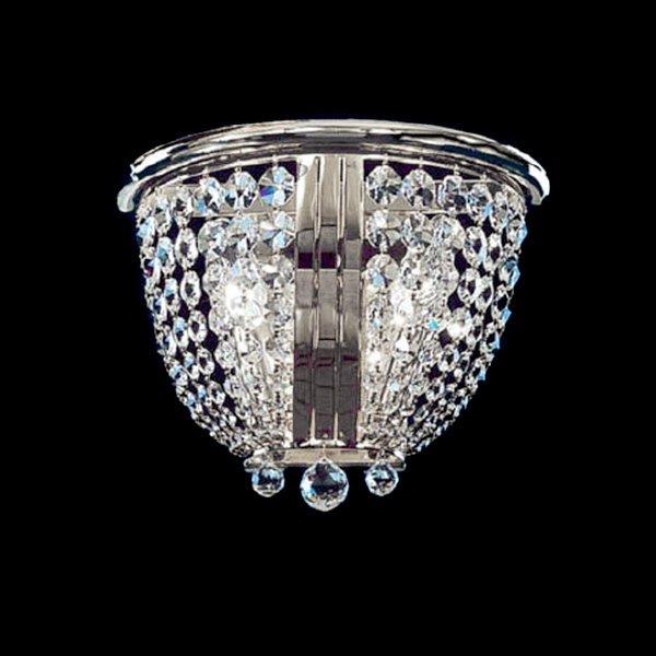 Настенный светильник Faustig Nickel Strass с прозрачными крупными кристаллами