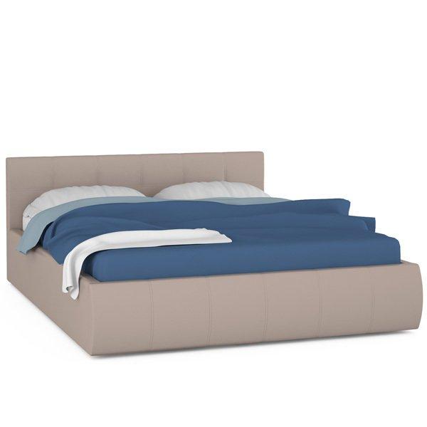 Кровать Афина бежевого цвета с ортопедическим основанием 160х200