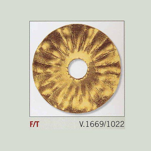 Бра MM Lampadari из металла золотого цвета с хрустальными элементами