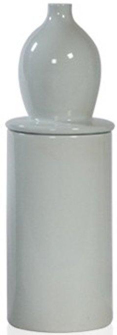 Ваза настольная Container Ceramic milk white