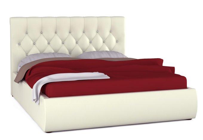 Кровать Тиффани белого цвета с ортопедическим основанием 160х200