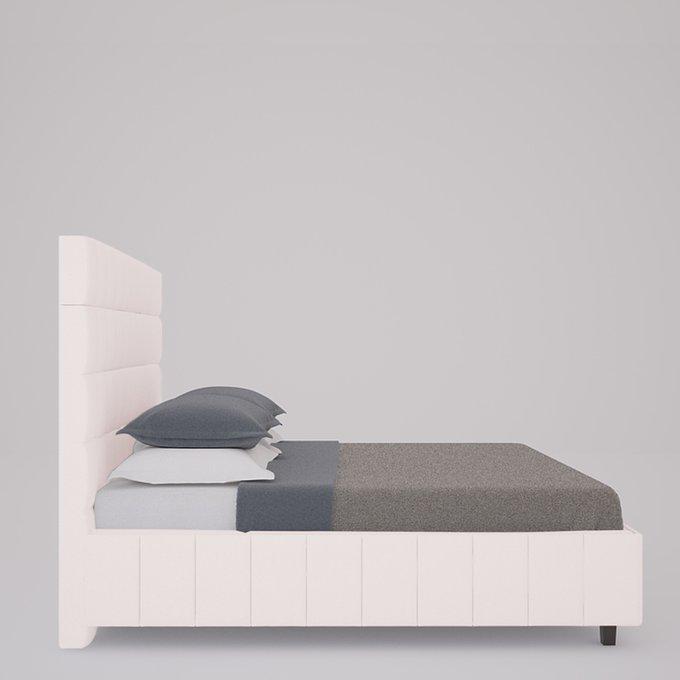Кровать Shining Modern Велюр Пыльная роза 160х200