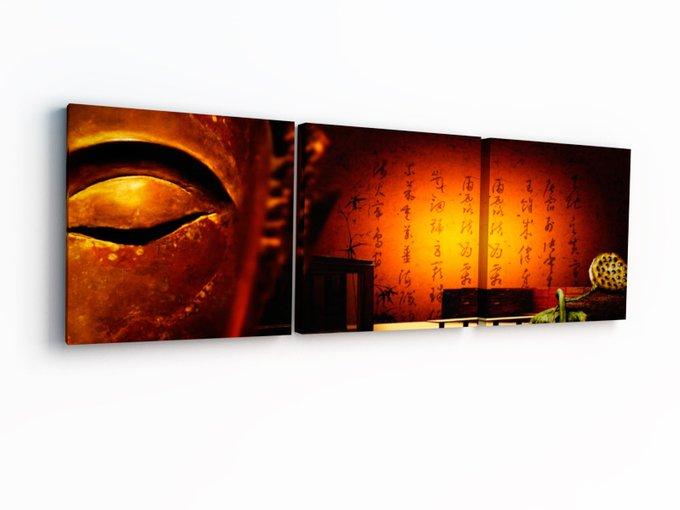 """Триптих на холсте """"Взгляд Будды"""""""