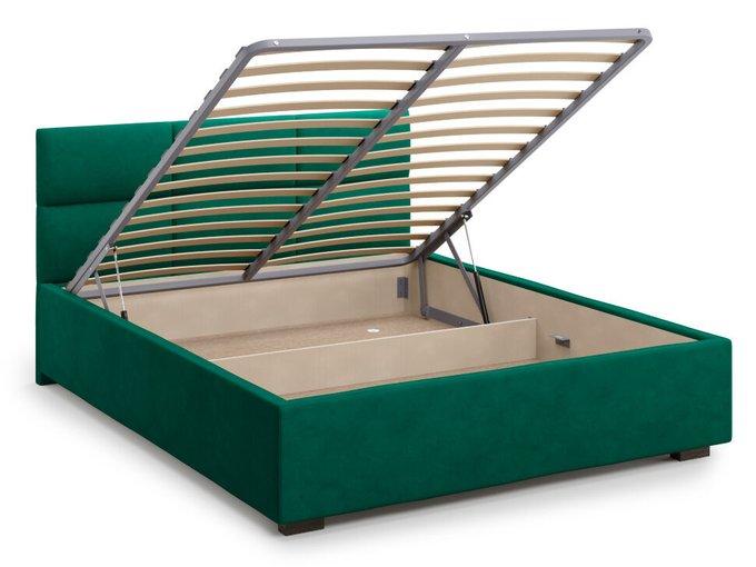 Кровать Bolsena 180х200 зеленого цвета с подъемным механизмом