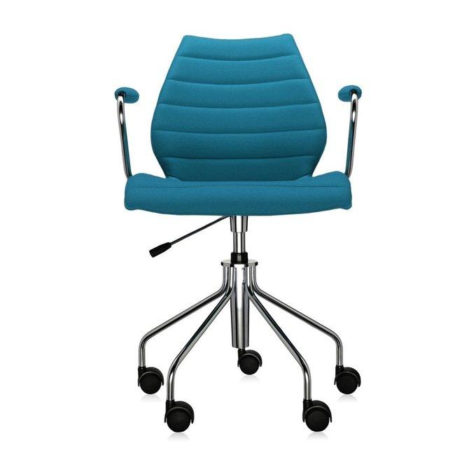 Офисный стул Maui Soft голубого цвета