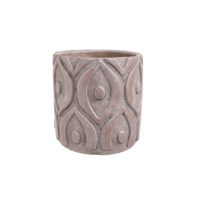 керамическое Кашпо розовое