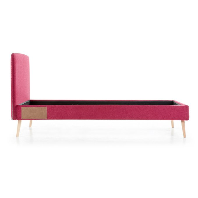 Кровать Lydia 90х190 бордового цвета