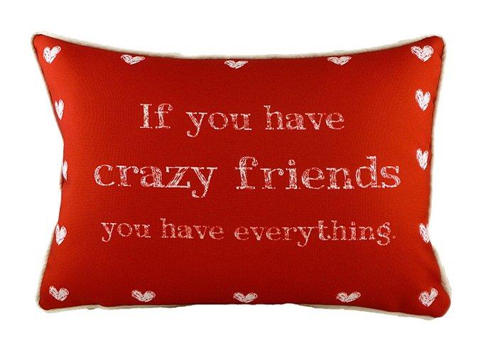 """Подушка с надписью """"Crazy Friends"""""""
