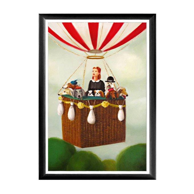 Арт-постер Воздушные авантюристы в черной раме