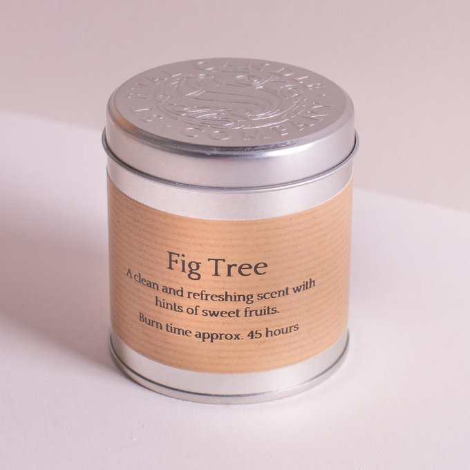 Свеча в металле Инжирное дерево