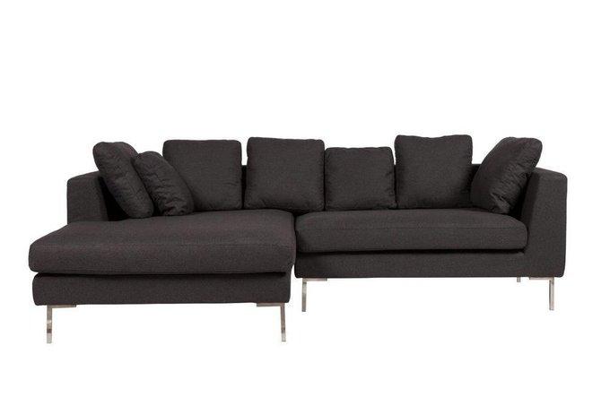 Угловой диван Charles Sofa Sectional Left Dark Grey