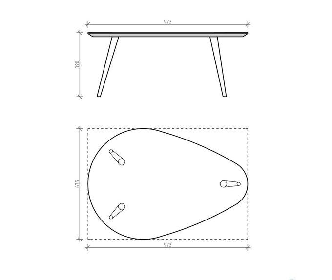 Журнальный стол Scale Long натуральный дуб