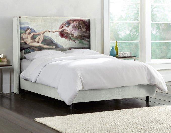 Кровать La Creazione di Adamo с каркасами и ножками из дуба 180х200