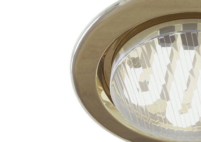 Встраиваемый светильник Metal Modern золотого цвета