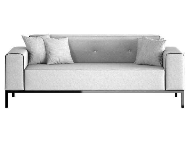 Прямой диван Oxford с обивкой из шенилла