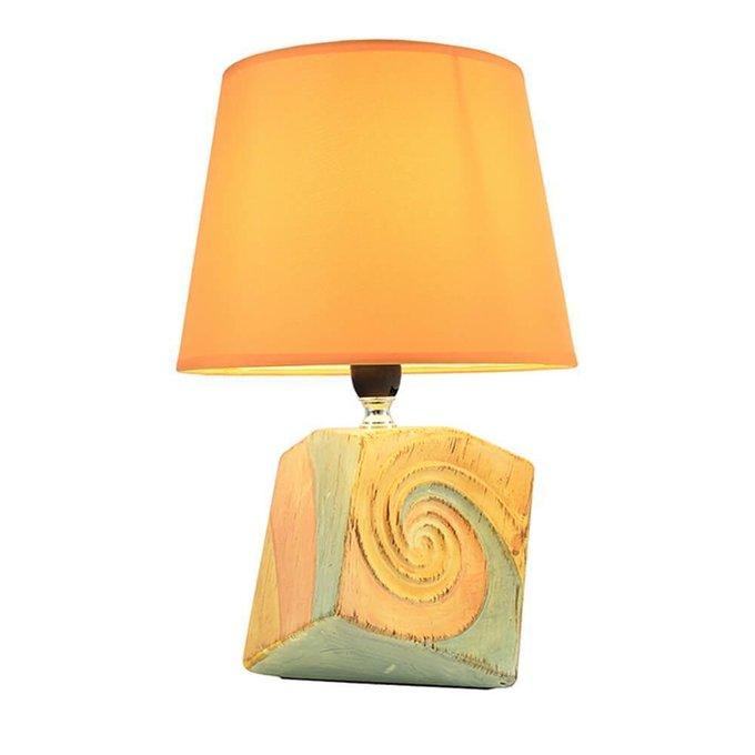 Настольная лампа Адель оранжевого цвета