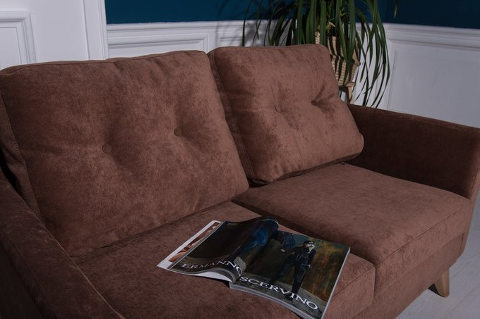 Прямой диван Rafael L серого цвета