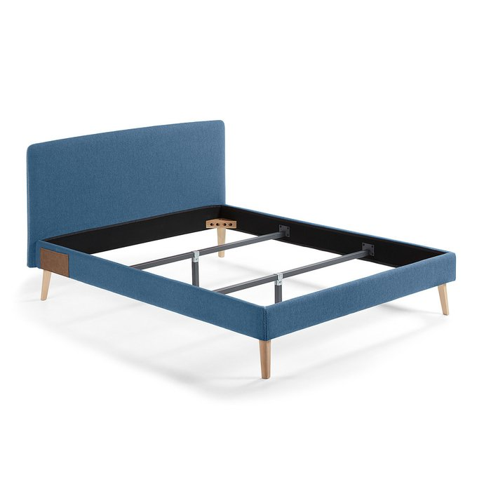 Кровать Lydia синего цвета 150х190