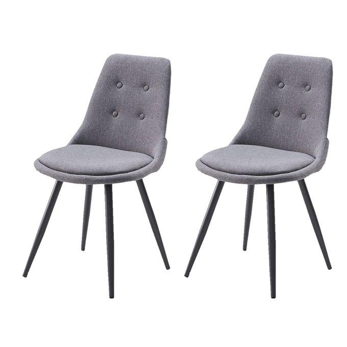 Комплект из двух стульев с металлическими ножками серого цвета