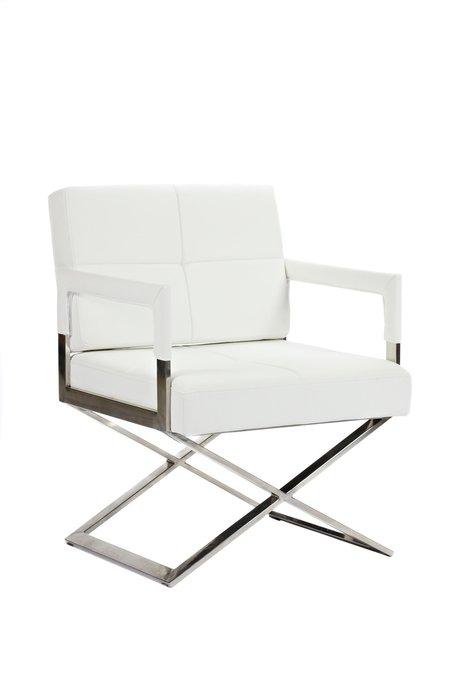 Кресло Aster X Chair Белая Кожа