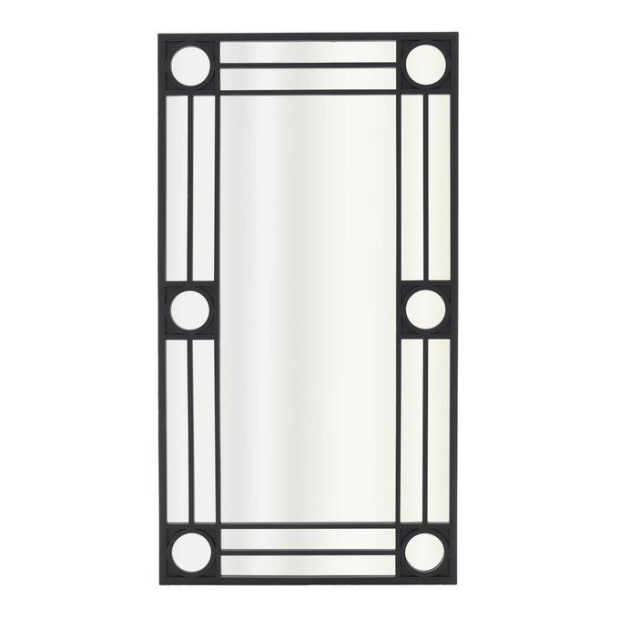Настенное зеркало из пластика черного цвета