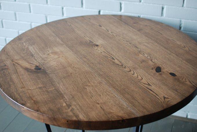 Круглый стол Slab Round Espresso из четырех слэбов дуба