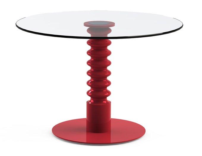 """Обеденный стол """"PILMER Red"""" со  столешницей из закаленного стекла"""