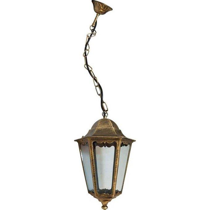 Уличный подвесной светильник золотого цвета