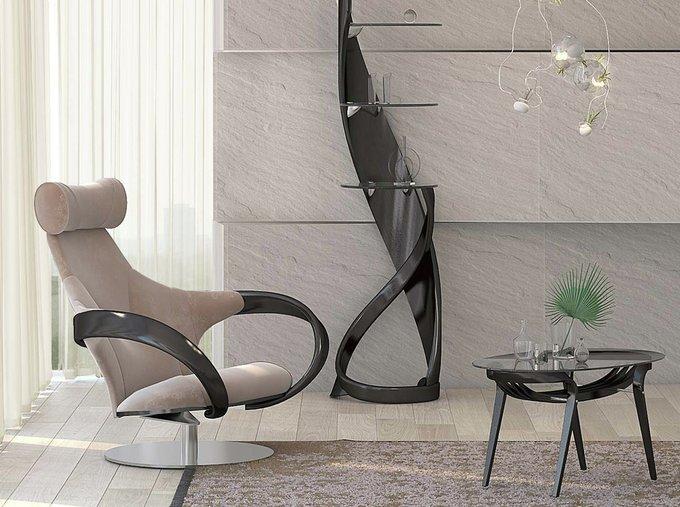 """Кресло """"Apriori S"""" с изящными подлокотниками из натурального дерева"""