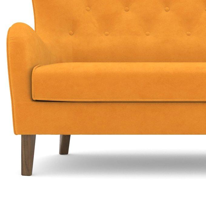 Диван двухместный Montreal желтого цвета
