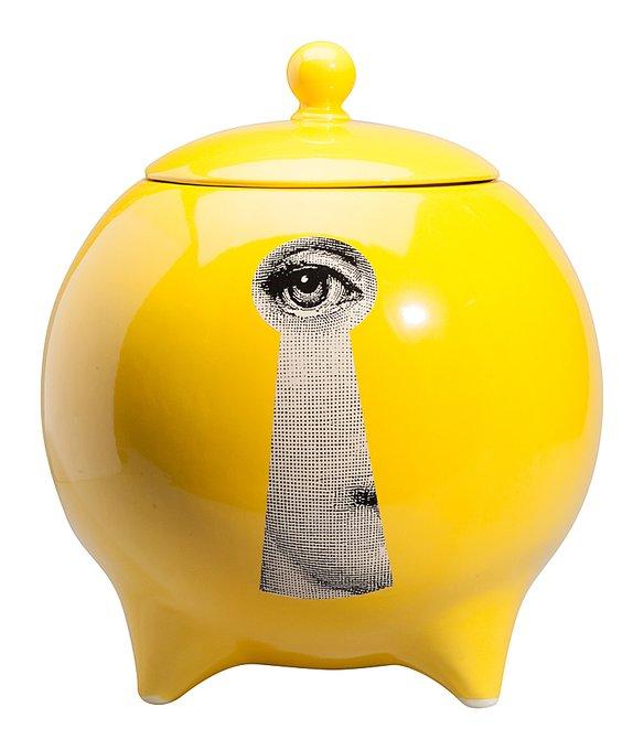 Декоративная ваза с крышкой Serratura Yellow I
