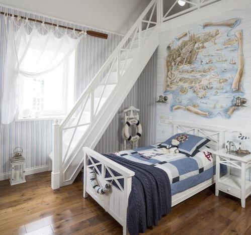 Кровать Бретань белого цвета 90х190