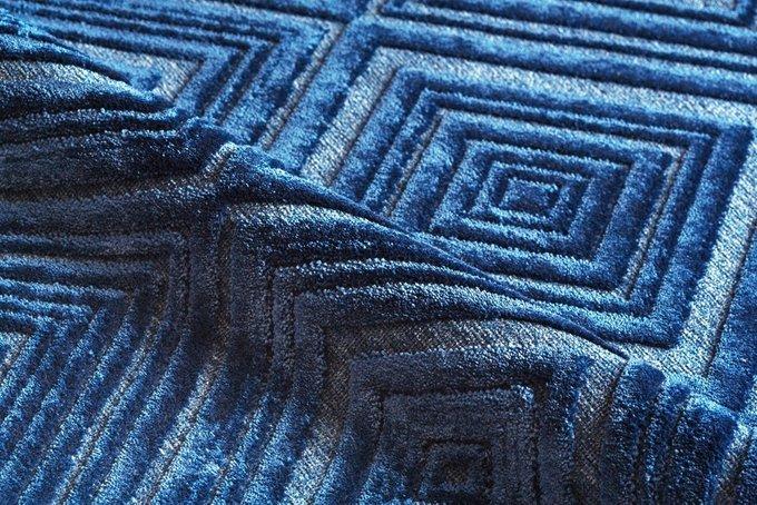 Ковер Cube синего цвета 80x125