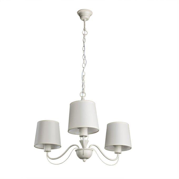 "Подвесная люстра ARTE LAMP ""Orlean"" с белыми абажурами"