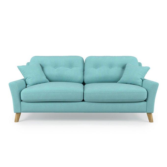 Диван трехместный Raf ST голубого цвета