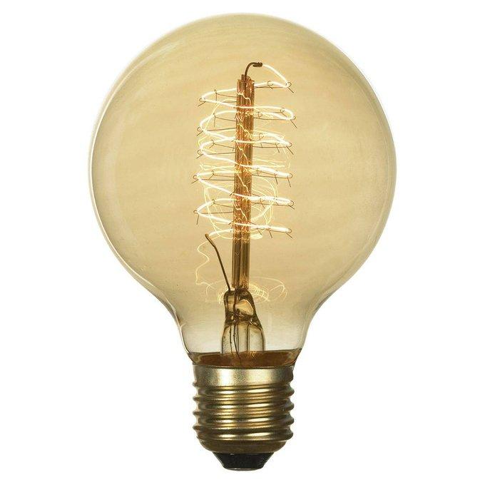 Лампа накаливания Е27 60W 2700K шар прозрачная