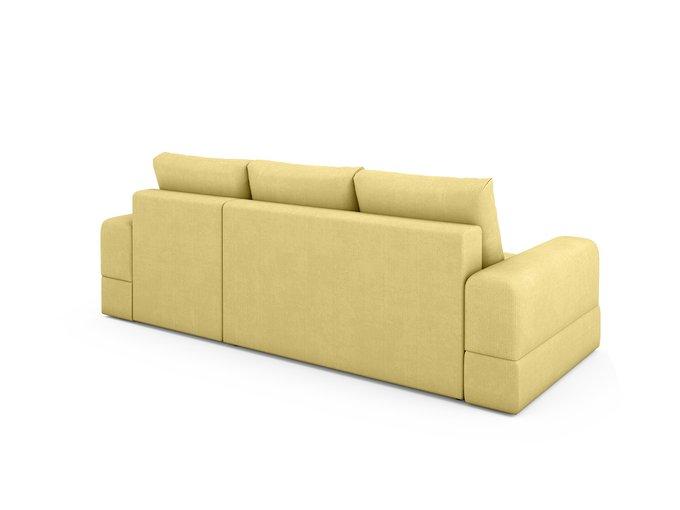 Угловой Диван-кровать Elke правый желтого цвета
