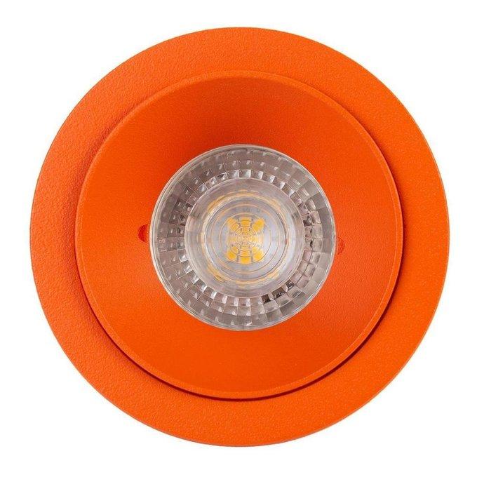 Встраиваемый светильник оранжевого цвета