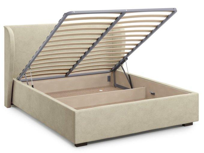 Кровать Tenno 140х200 бежевого цвета с подъемным механизмом